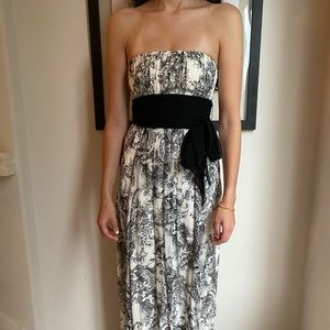 BCBGMAXAZRIA Full length floral gown
